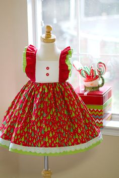 8a1c0d7628e Girls Classic Vintage Oh Christmas Tree Dress by KinderKouture Christmas  Girls