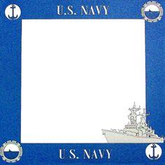 Paper Wizard - 12x12 Page Border - Navy at Scrapbook.com $5.69