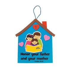 Mom & Dad Sign Craft Kit - OrientalTrading.com