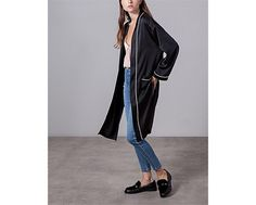 silk duster coat