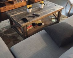 Rustic Coffee Table by GirlyBuilds on Etsy