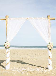 Outer Banks Wedding by Julie Dreelins' Beach Productions   Venue: Village Realty event home   Floral: Sugar Snap Events #destinationwedding #beachwedding