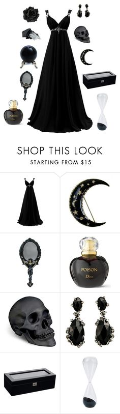 """""""Pandora"""" by conquistadorofsorts ❤ liked on Polyvore featuring Christian Dior, L'Objet, Alexis Bittar, Wolf, Mitchell Gold + Bob Williams and Gorgeous Cosmetics"""