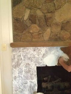 Paint Colors For Stone Fireplace Wash The Was Consistency Of And Color Whole