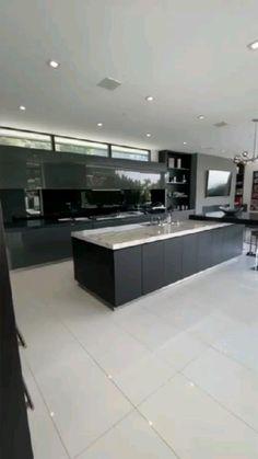Kitchen Design Open, Luxury Kitchen Design, Modern House Design, Interior Design Kitchen, Open Kitchen, Kitchen Modern, Minimalistic Kitchen, Kitchen Ideas, Interior Decorating