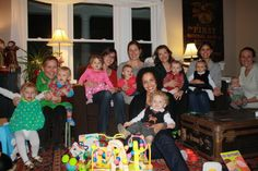 """Moms and babies from BIDMC's """"Parent Connection"""" new moms group in Dedham continue to get together even after their babies graduated from the group when they turned 1 year old."""