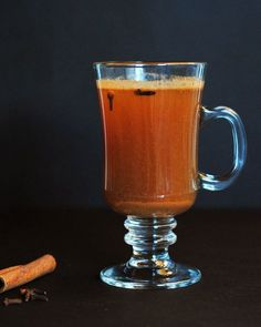 Bourbon Hot Toddy or Apple Bourbon Hot Toddy - just switch out the hot water and lemon for hot apple cider!