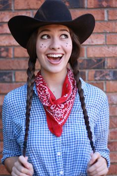 Cowgirl. Last minute Halloween costume ideas // ????????. ???? ???????? ??? ????????? (Last Minutes Crafts)
