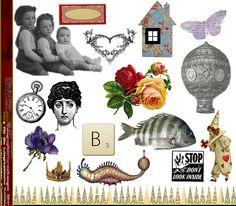 free Collage Sheet by rubyblossom., via Flickr