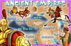 Ancient Empires in the Bible - from kidsbiblemaps: