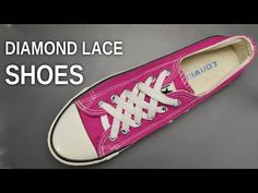 how to diamond lace converse