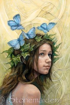 Julia Jeffrey Faerie Art from her Tarot of the Hidden Realms. I have the English set and it's gorgeous!