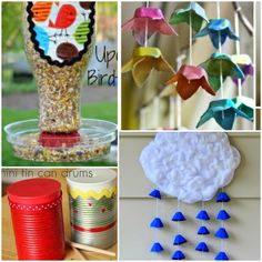 Recycle or upcycle craft for kids - like the rain cloud.