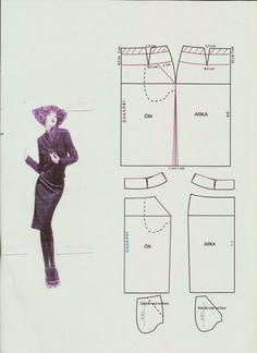 KALIP DERSLERİ: kalem etek çizimi