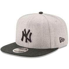 8ccfa3a28a6 New York Yankees New Era Action Original Fit 9FIFTY Adjustable Snapback Hat  - Heathered Gray Black