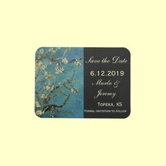 Van Gogh's Almond Branch Save the Date Flexible Magnets Oh my gosh, I love it! My favorite Van Gogh painting