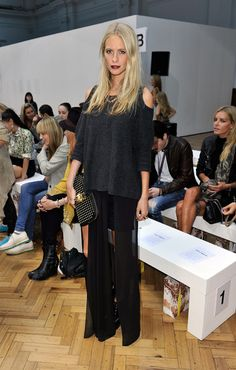 Poppy Delevingne - LFW SS2013: Sass & Bide Front Row
