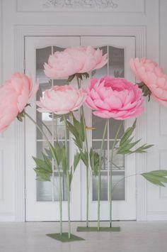 Permanente de flores de papel gigantes  autónomo de papel de | Etsy
