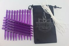 Tozz Pro ® Aluminum Alloy Tri-cone Shaped Tent Stakes Pegs 17g Each-pack of 15 Come with Pouch *** To view further for this item, visit the image link.