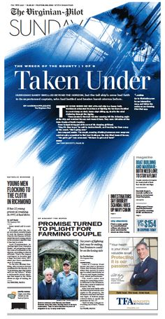The front page of The Virginian-Pilot, Sunday, Oct. 20, 2013.