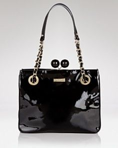 Kate Spade Black Patent Bag - I think I may just have to buy this one...soon...
