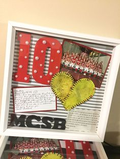 """The post """"Senior night shadow box!"""" appeared first on Pink Unicorn Senior gifts Softball Coach Gifts, Soccer Gifts, Volleyball Gifts, Sports Gifts, Senior Softball, Senior Day, Softball Mom, Softball Quotes, Softball Pictures"""