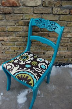 a teal rose back chair | Nouvelle Vie Furniture