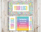 Buy 10 Cards Business Cards Punch Home Office Approved Font and Colors LuLa Business Cards Paisley Digital Business Cards LLR Teams