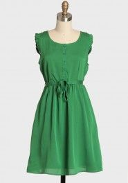 evergreen morning button up dress by Tulle