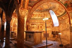 Anagni Cathedral: Crypt of St. Magnus: Main Apse - glowing with reflections of Byzantium..