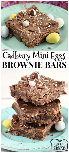 Cadbury Mini Egg lovers- check out these Brownie Bars!! Delicious homemade brownie recipe from  Butter With A Side of Bread via @ButterGirls