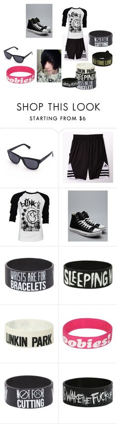 """Luke"" by bvb-bvb ❤ liked on Polyvore featuring adidas, Retrò, Converse, Keep A Breast, women's clothing, women, female, woman, misses and juniors"
