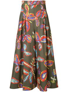 PETER PILOTTO Floral Print Wide-Leg Trousers. #peterpilotto #cloth #trousers