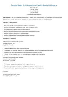 Sample Regulatory Compliance Specialist Resume  Resame