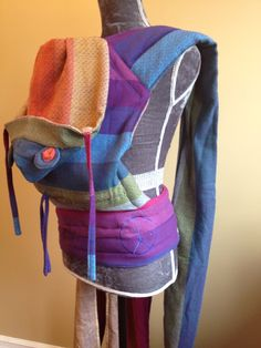Wrap conversion mei tai, made from Girasol Northern Lights, converted by Mama Bird Carriers. Baby Sling, Baby Up, Woven Wrap, Baby Wraps, Baby Wearing, Baby Carriers, Northern Lights, How To Wear, Collection