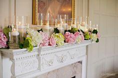 decorating an elegant mantel for wedding - Google Search