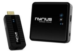 Nyrius ARIES Prime Digital Wireless HDMI Transmitter & Receiver System for HD 1080p 3D Video Streaming, Laptops, PC, Cablebox....Xbox (NPCS549). - Wirelessly send high definition movies, TV shows, games & music from your PC, Blu-ray/DVD player, gaming console or other HDMI device to an HDTV or projector - Stream uncompressed, true 1080p video and surround sound audio in real-time with zero latency; 3D compatible. - Powerful 30ft digital signal eliminates the hassle of installing messy…