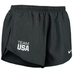 Women's Nike Anthracite Team USA Stadium Tempo Shorts - Medium