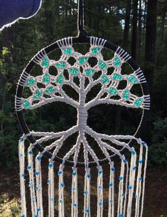 Locally handmade here in Washington State. This uniquely handcrafted tree of life wall hanging adds a beautiful touch to the spiritual flow of your home. Place it in your living room, bedroom window, meditation or yoga space. This macrame wall hanging also makes a really great