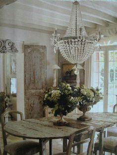 Esszimmer, französischer Landhausstil, Landhausmöbel, Einrichten, Wohnen, French farmhouse