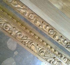 Wooden Front Door Design, Wood Bed Design, Wood Front Doors, Wooden Doors, Furniture Design, Door Design Images, Traditional Front Doors, Glass Barn Doors, Wood Carving Designs