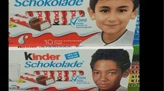 Anti-Islam protesters in Germany complain about non-white children's photos on Kinder chocolates - but the images are childhood photos of the national football team.