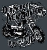 Ride with JC Christian Biker Shirt Old Skool by CGodseyPhotography