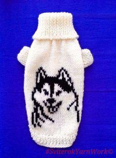 Winter Warm Sweater With Husky Pattern For от SviterokYarnWork