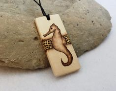 Wood #Seahorse Necklace Pendant Natural Jewelry Hippie by SepiaTree, $19.99