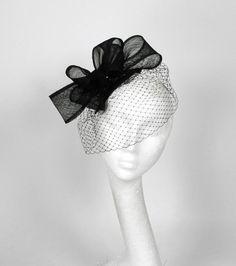 Black Fascinator Hat