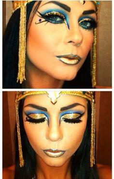 Egyptian Eye Makeup, Cleopatra Makeup, Cat Eye Makeup, Sexy Makeup, Makeup Eyeshadow, Cleopatra Halloween, Cleopatra Costume, Egyptian Costume, Halloween Makeup Looks