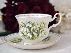 Royal Albert Teacup and Saucer Flower of the by TheTeacupAttic