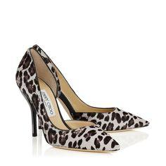 Jimmy Choo 100mm Willis Quartz Leopard Print Pointy Toe Pumps-$950.00