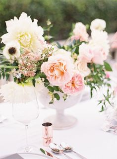 Blush, Copper, Pastel and Marble Wedding Inspiration with BHLDN Wedding Dress at Aldredge House in Dallas by Kayla Barker Fine Art Photography Copper Wedding, Mod Wedding, Floral Wedding, Wedding Reception, Wedding Flowers, Wedding Bells, Bridesmaid Bouquet, Wedding Bouquets, Bhldn Wedding Dress